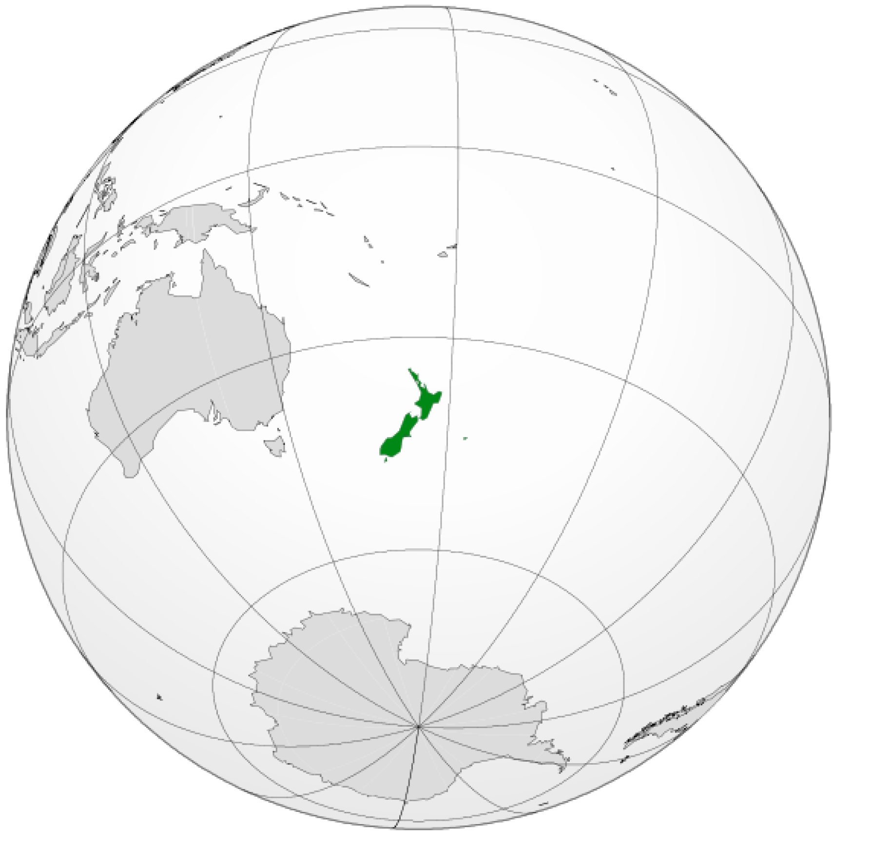 New-Zealand-on-the-globe