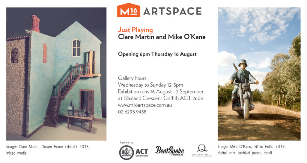Exhibition with Clare Martin at M16 Gallery, Canberra Australia